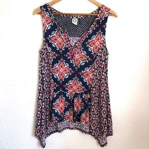 Anthropologie Akemi + Kin Mixed Pattern Top